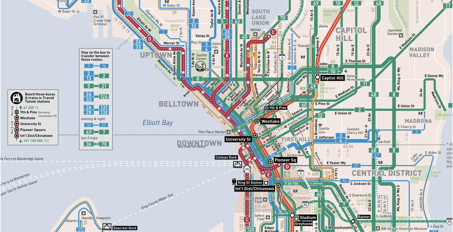 Seattle Transit Map